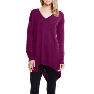 NWT Vince Camuto Drop Stitch V-Neck Sweater